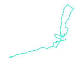 Map showing location of 10B: E Hampton - Springs - Bridgehampton